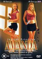 Justine Priestley as Amanda Lear in Up Against Amanda