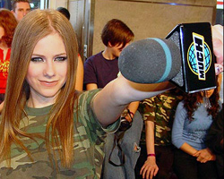 Avril Lavigne as Herself in Much Music Video Awards