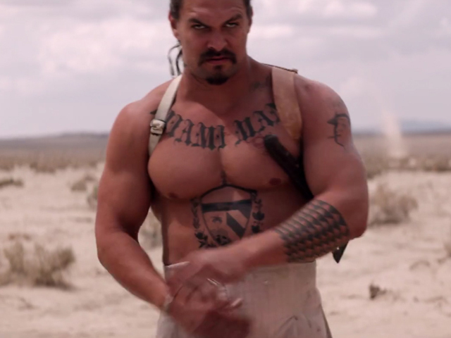 "Jason Momoa shirtless for ""The Bad Batch"""