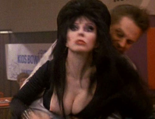 Like a curious combination of Elvira (Picture: 1) and Florence Henderson? ...