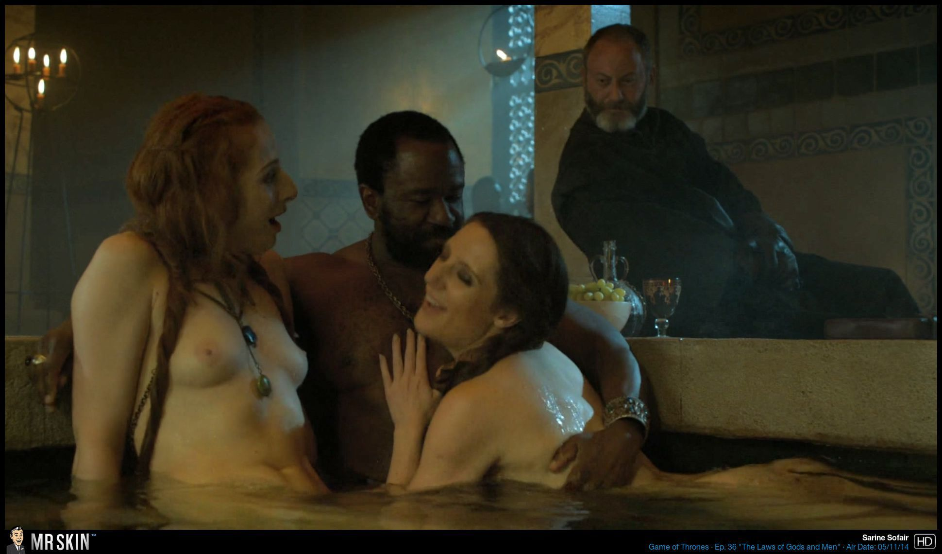 Lucy lawless amp jaime murray threesome sex in spartacus series 8